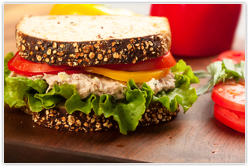 Image of a tuna salad sandwich