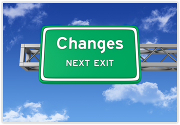 "Image of a road sign saying ""Changes: Next Exit"""